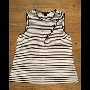 Marc Jacobs striped black and white top